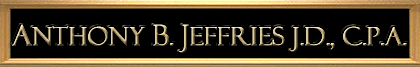 Anthony B. Jeffries, J.D., C.P.A. | Sticky Logo